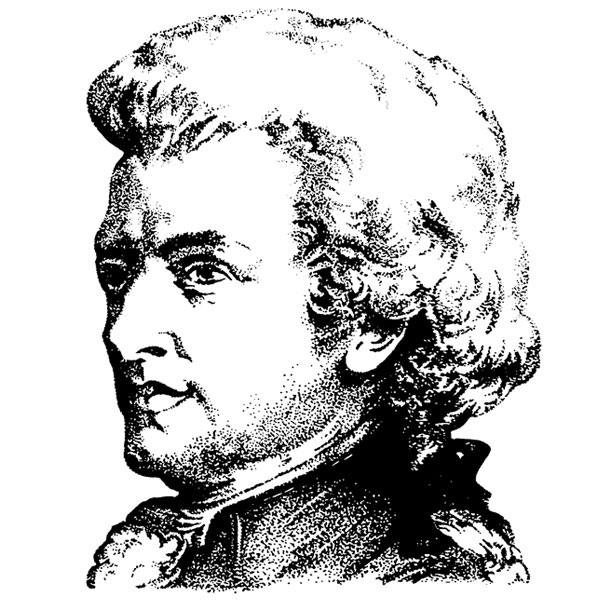 600x600 Mozart Medium Unmounted Stamp By Classic Stampington Company