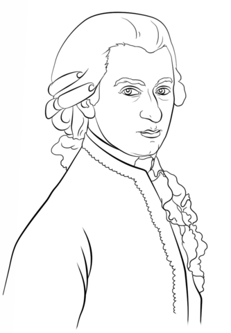 333x480 Mozart Coloring Page Free Printable Coloring Pages