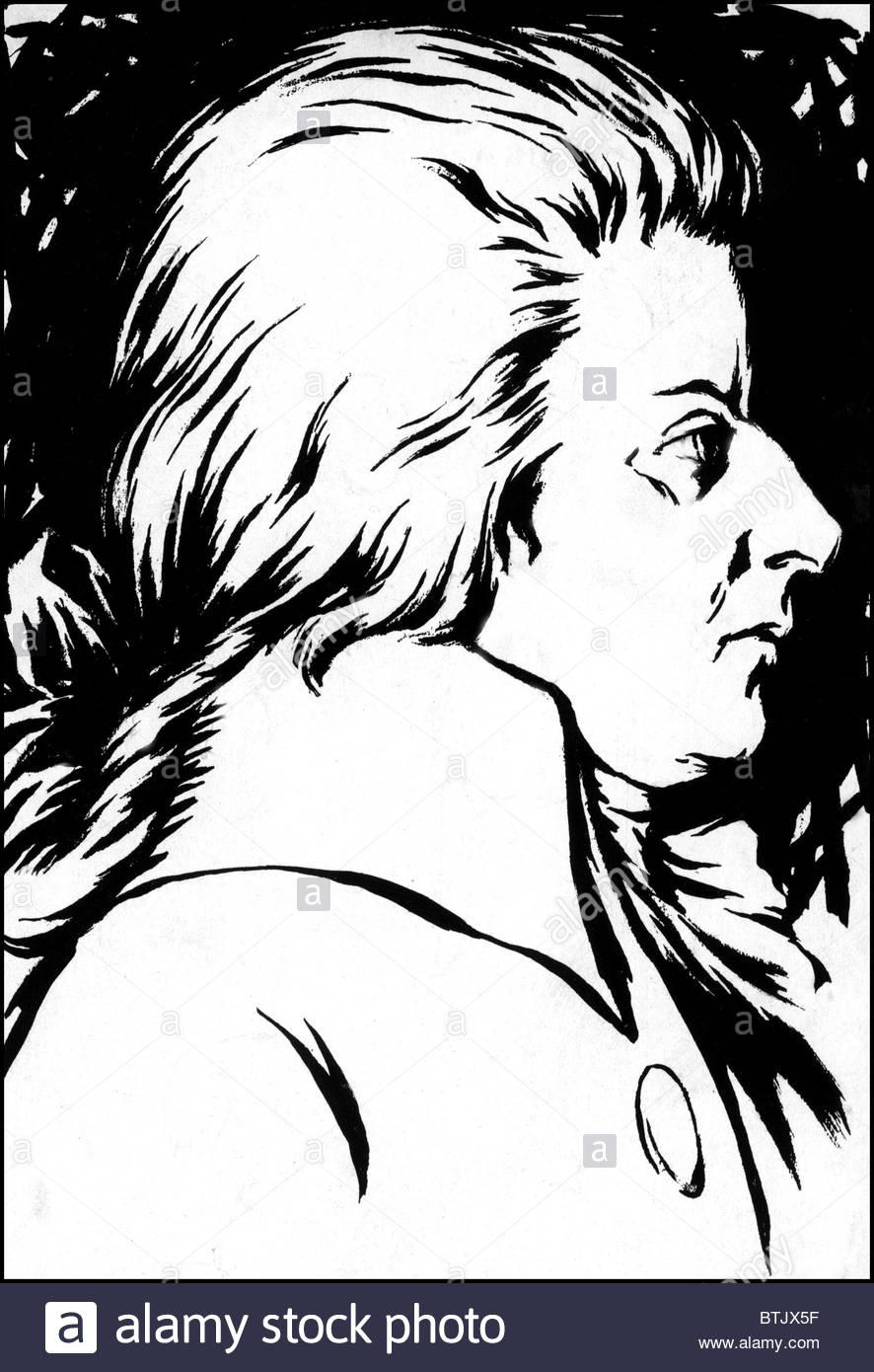 886x1390 Wolfgang Amadeus Mozart, Painted Around 1786 Stock Photo, Royalty