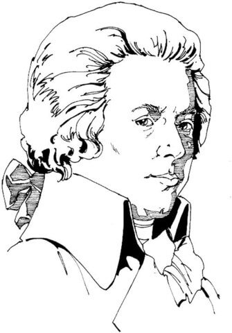335x480 Wolfgang Amadeus Mozart Coloring Page Free Printable Coloring Pages
