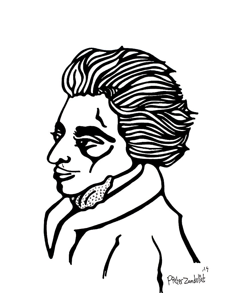 850x1024 Drawing Of The Day, Amadeus Mozart