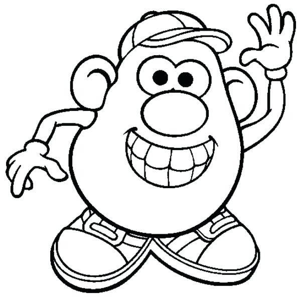 600x594 Mr Potato Head Coloring Pages Potato Head Is So Happy Coloring
