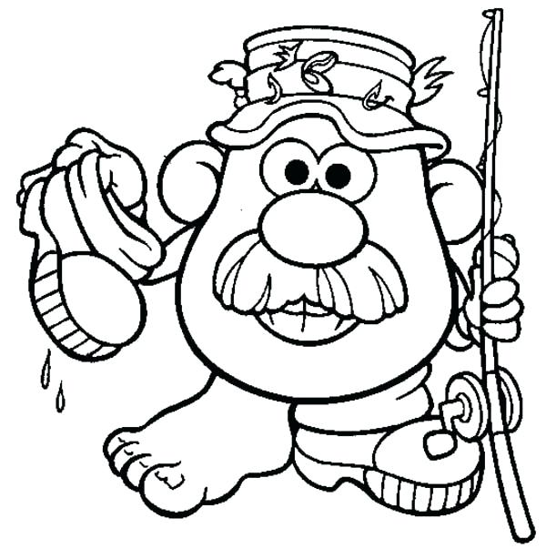 600x603 Mr Potato Head Coloring Pages Potato Head The Adventure Of Potato