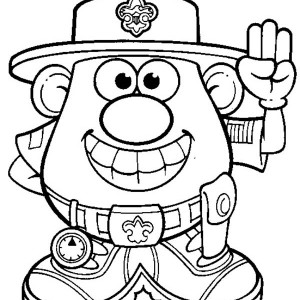 300x300 Mr. Potato Head Wife Feeling Shy Coloring Pages Bulk Color