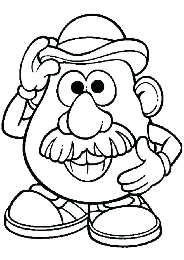 600x848 Potato Coloring Pages Potato Head Coloring Pages X A A Previous