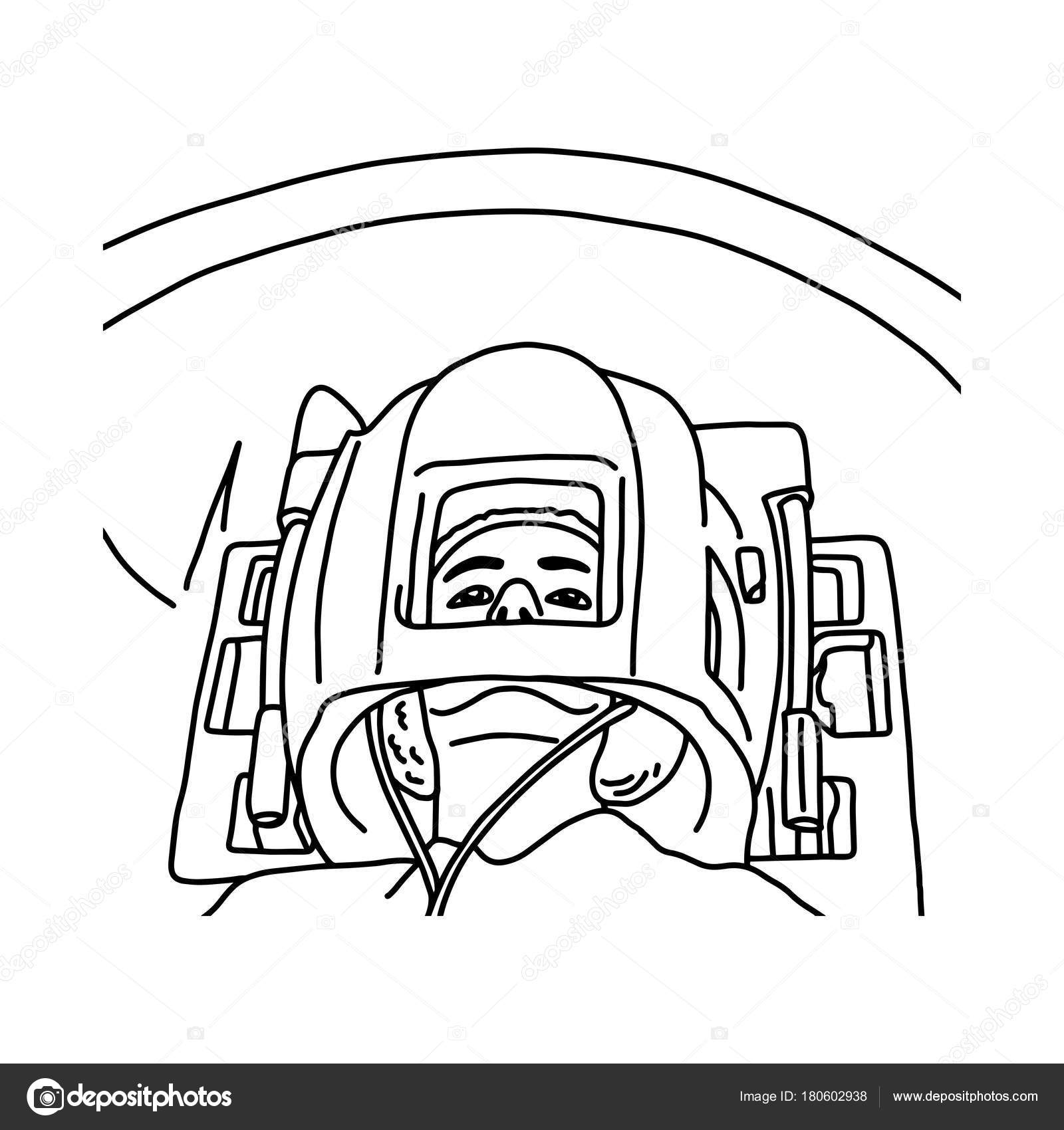 1600x1700 Close Up Of Patient Head In Mri Scanner Vector Illustration Sketch