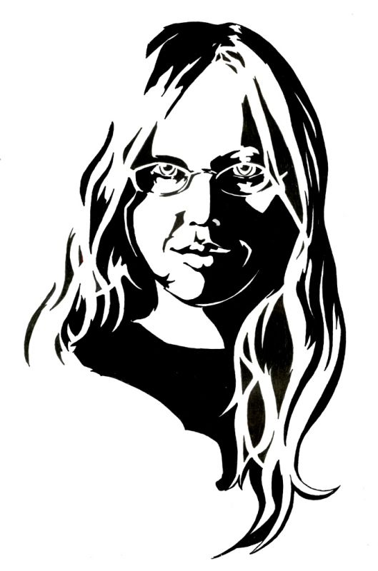 529x800 Self Portrait Drawing Black And White