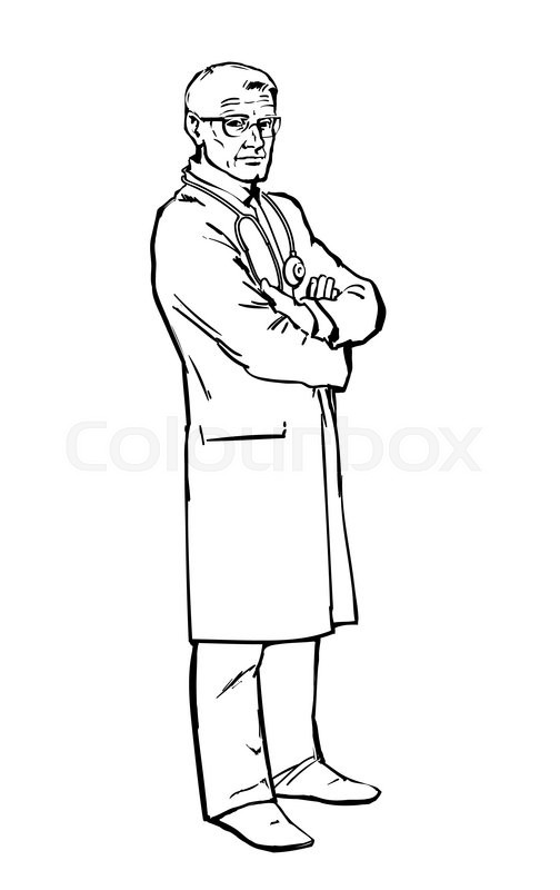 504x800 Serious Doctor Man To His Full Height, The Attending Person Is