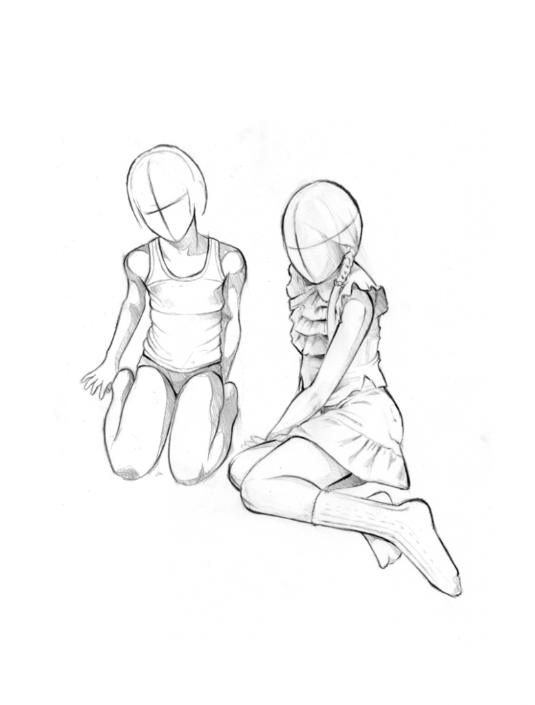 777x1024 Small Girl Sketches Or Drawing Sketches Of Standing Girl Pencil