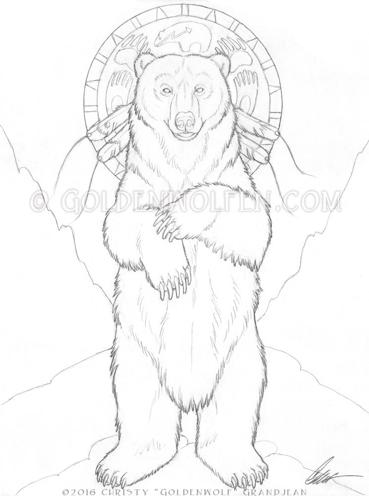 745x1000 Standing Bear By Goldenwolf