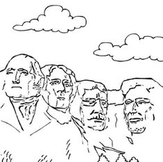 Mt Rushmore Drawing