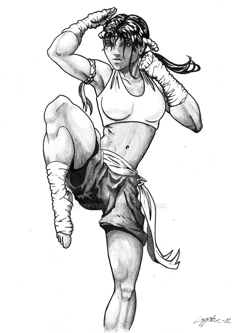754x1060 Muay Thai 1 By Loppster80
