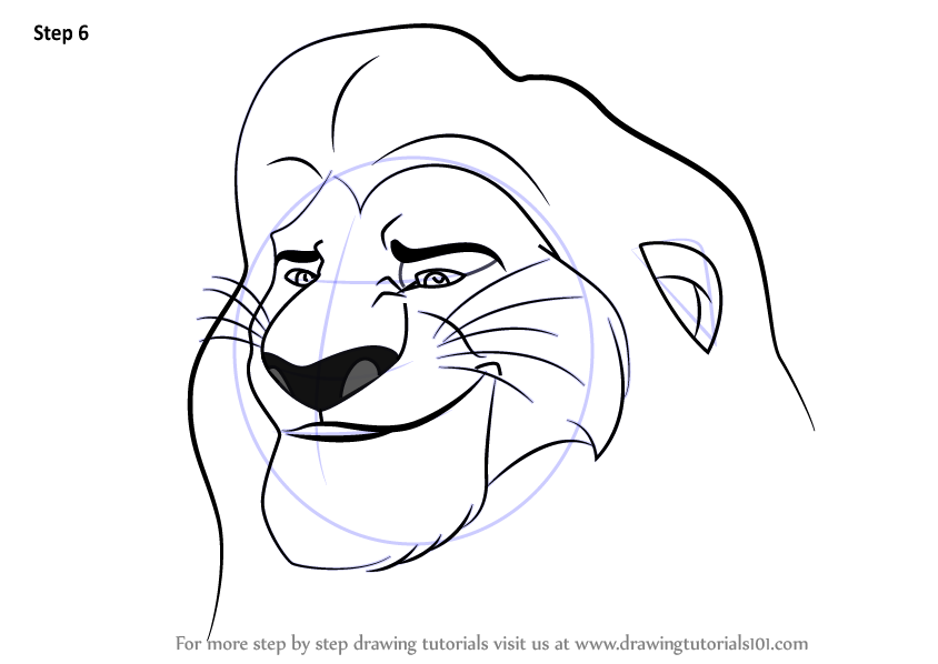 844x598 Learn How To Draw Mufasa From The Lion Guard (The Lion Guard) Step