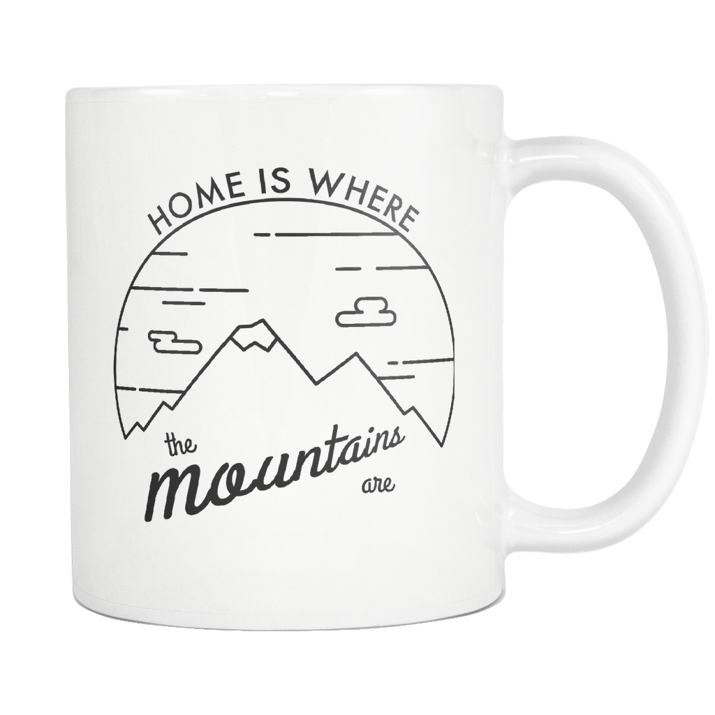 1024x1024 Home Is Where The Mountains Are Porcelain Mug Modern Ruins
