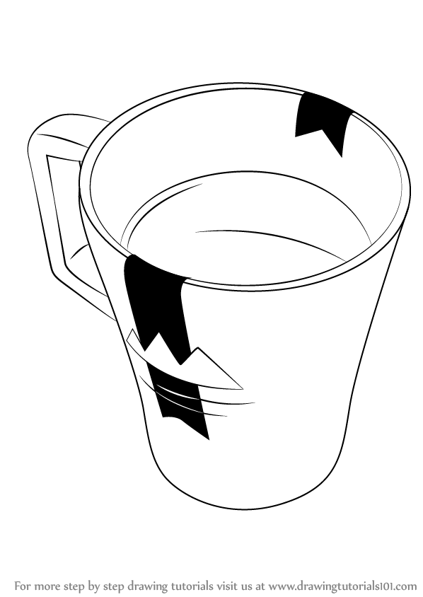 598x844 Learn How To Draw A Coffee Mug (Everyday Objects) Step By Step