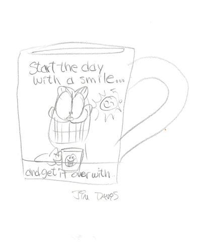 407x480 All Jim Davis Sketches Garfield's Art Gallery Amp Collectibles