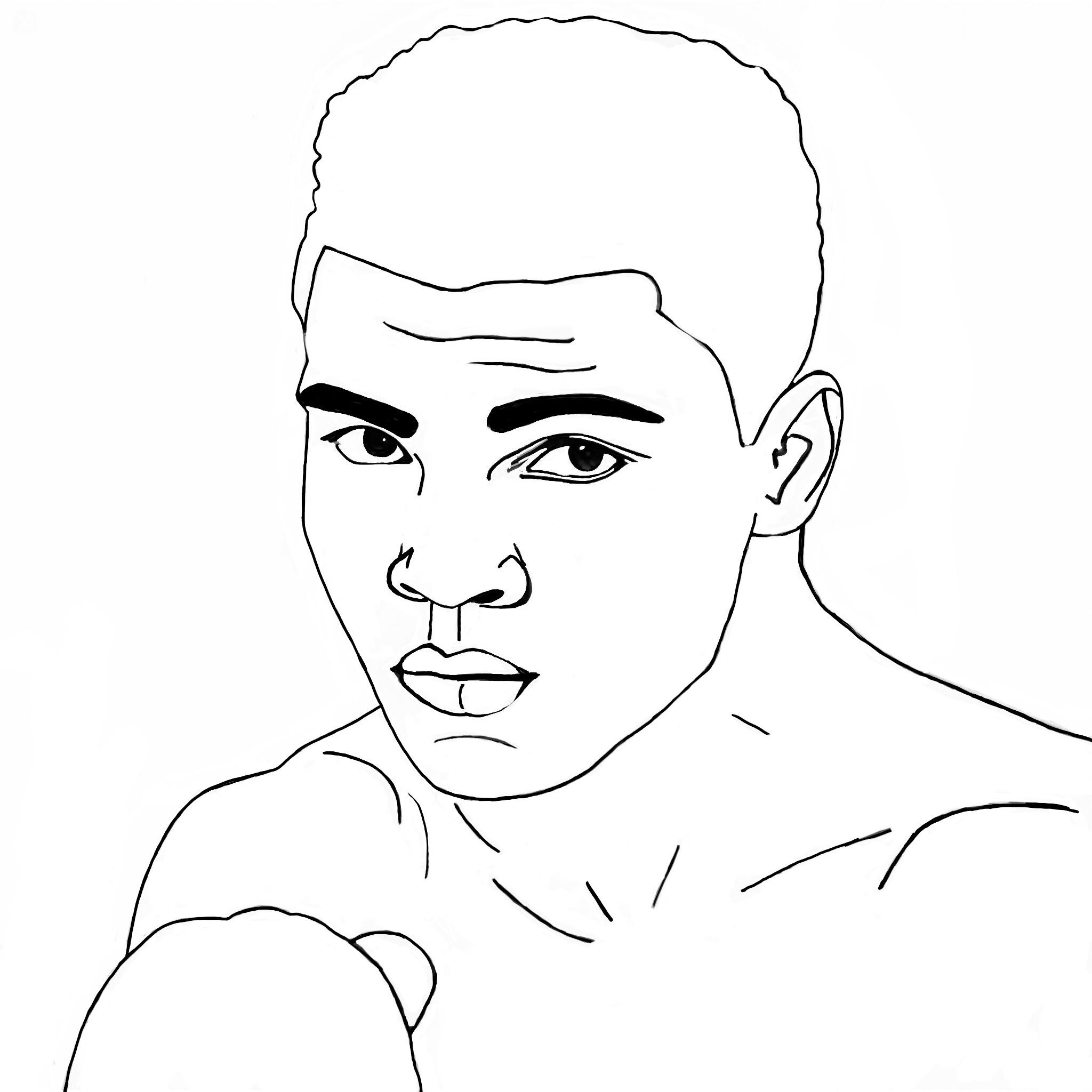 2048x2048 Muhammad Ali Tattoo Painting Drawing Art Paintings