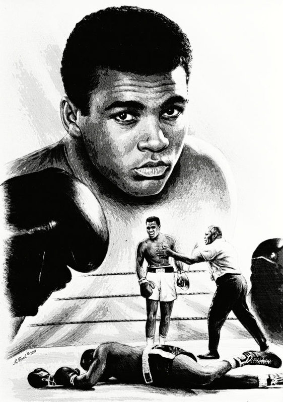 562x799 Muhammad Ali The Greatest Art Print By Andrew Read