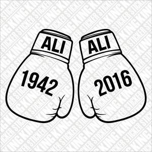 300x300 Muhammad Ali Tribute Boxing Gloves Car Vinyl Decal Sticker Window