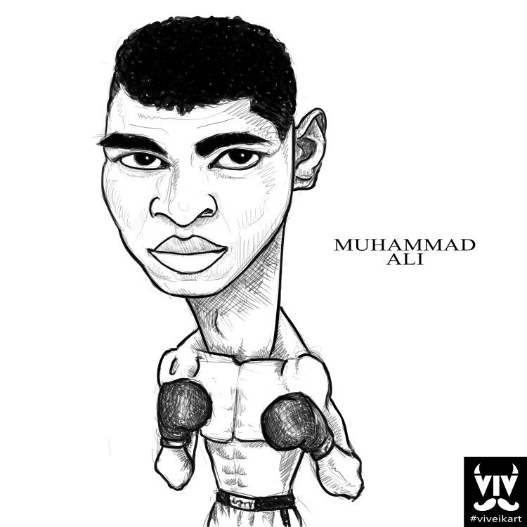 750x750 Caricature Of Muhammad Ali