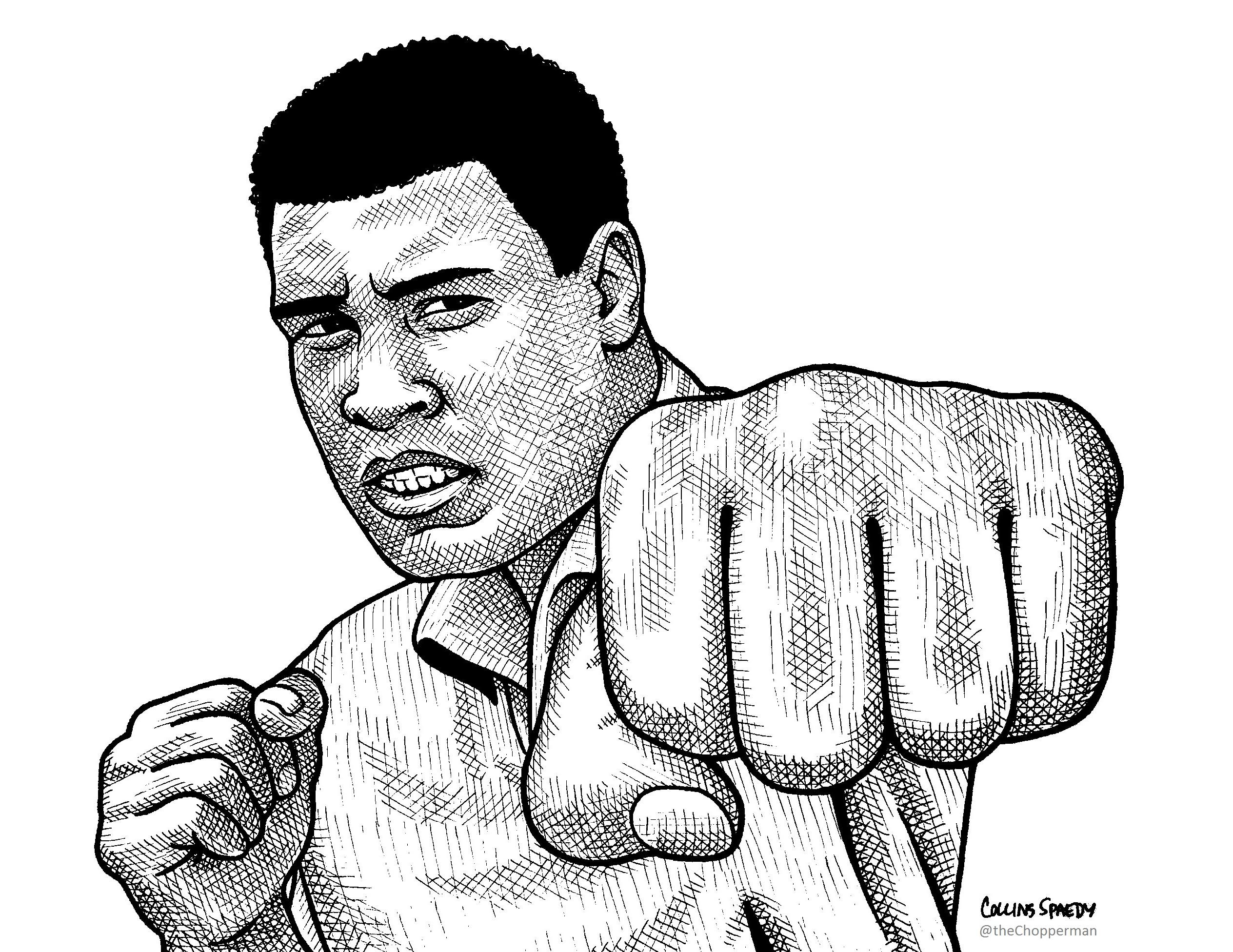 2528x1952 Sharpie Drawing Of Muhammad Ali