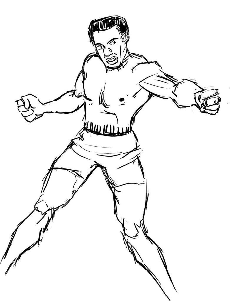 781x1022 Sketch Of Muhammad Ali