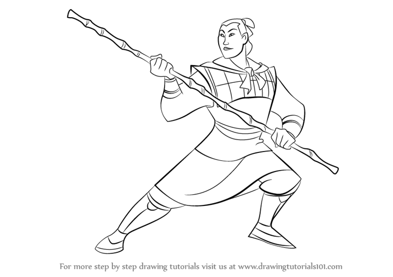 800x565 Learn How To Draw Li Shang From Mulan (Mulan) Step By Step