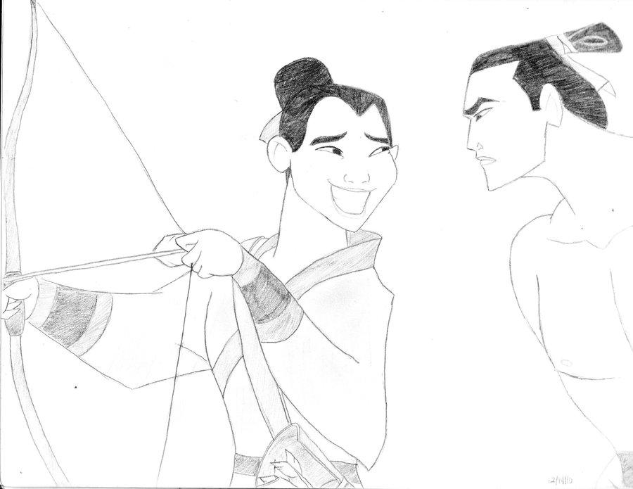 900x695 Mulan And Shang By Brythatdrawingguy