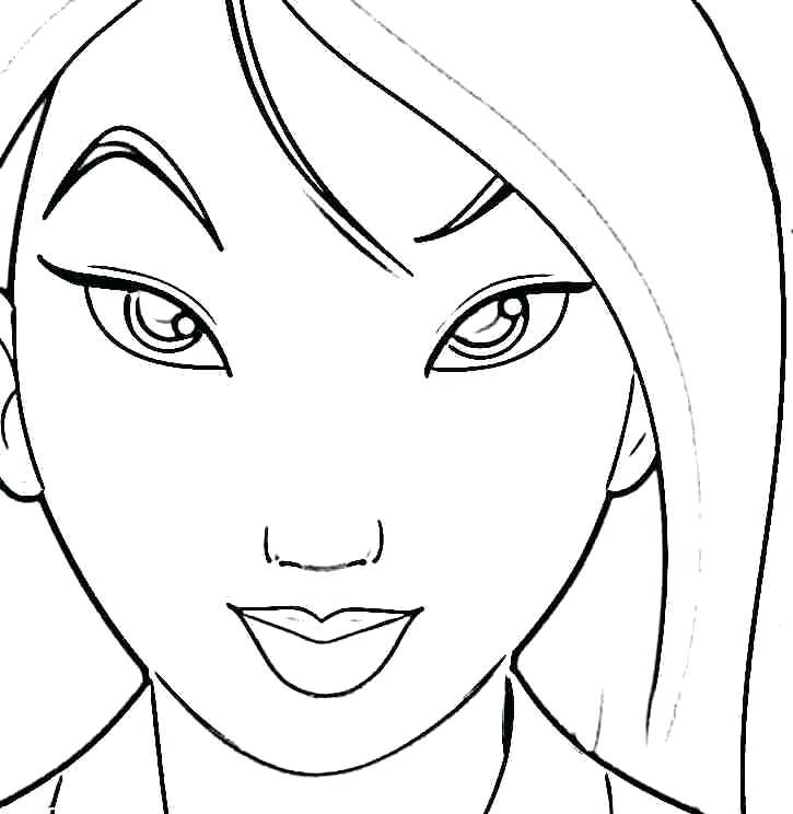 725x744 This Is Mulan Coloring Pages Pictures Drawn Princess 3 Mulan 2