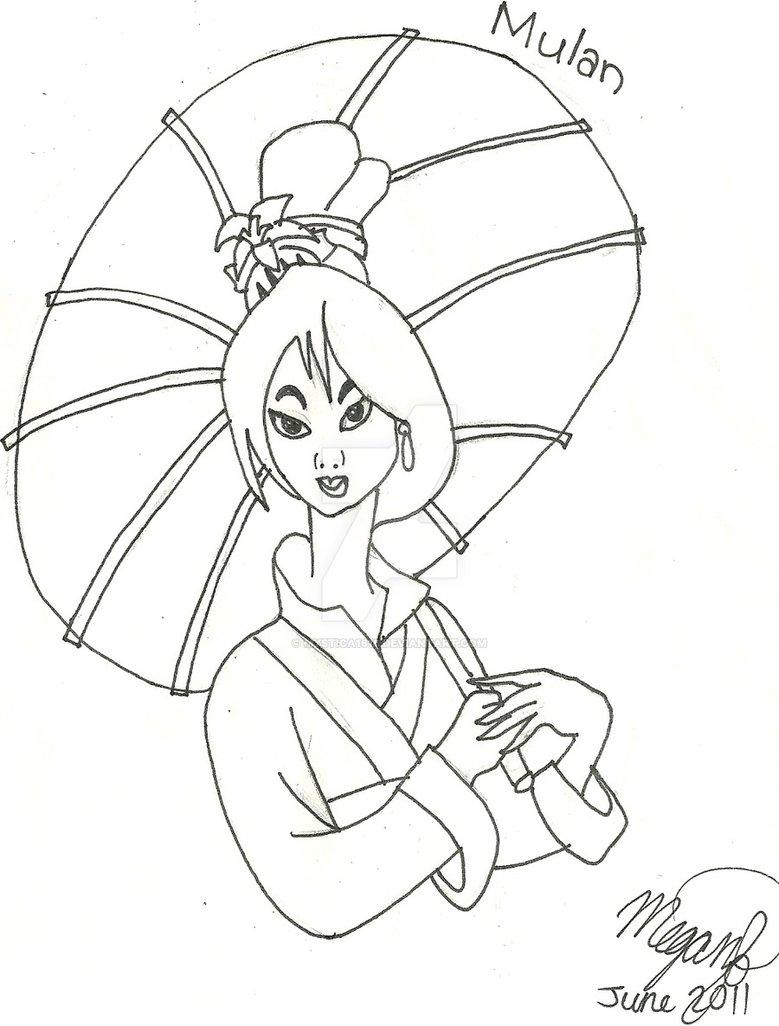 779x1026 Mulan Drawing By Mystica1616