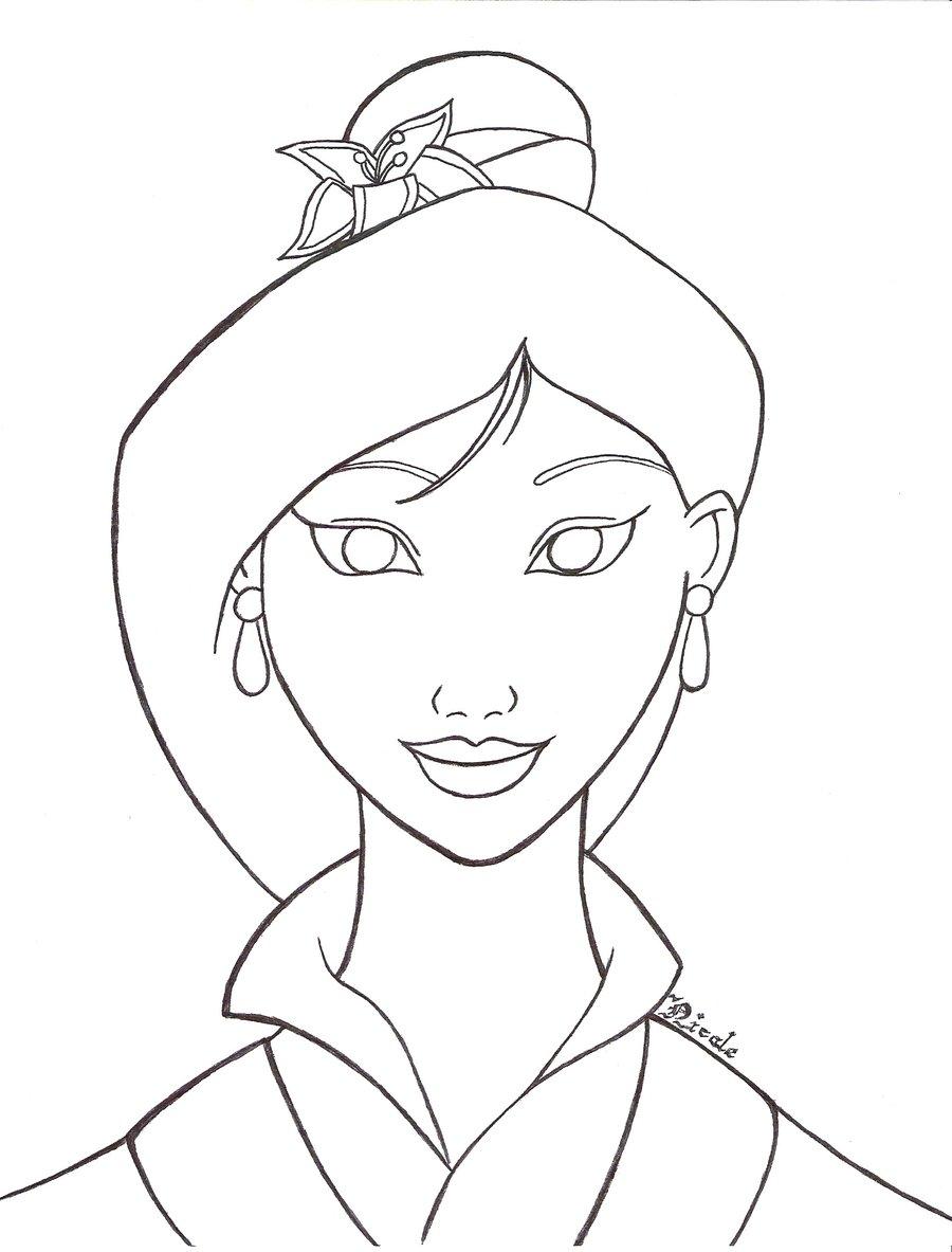 900x1183 Mulan Drawings Mulan Line Art By Nicole Aoi 135 Color