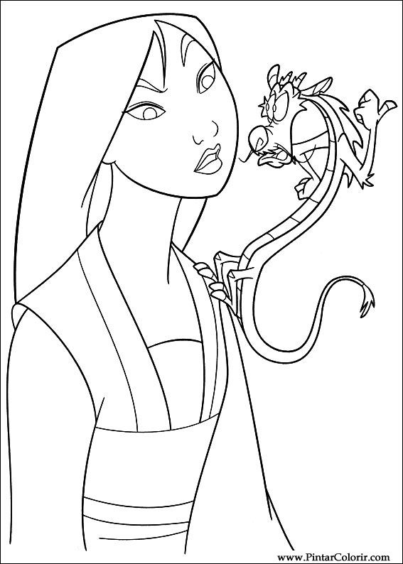 567x794 Drawings To Paint Amp Colour Mulan