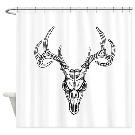 460x460 Deer Skull Shower Curtains Cafepress