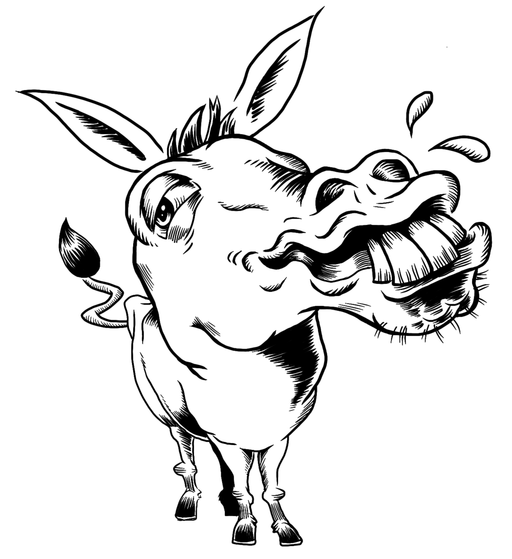 1000x1093 Donkeys Malcontent Comics Incorporated Presents
