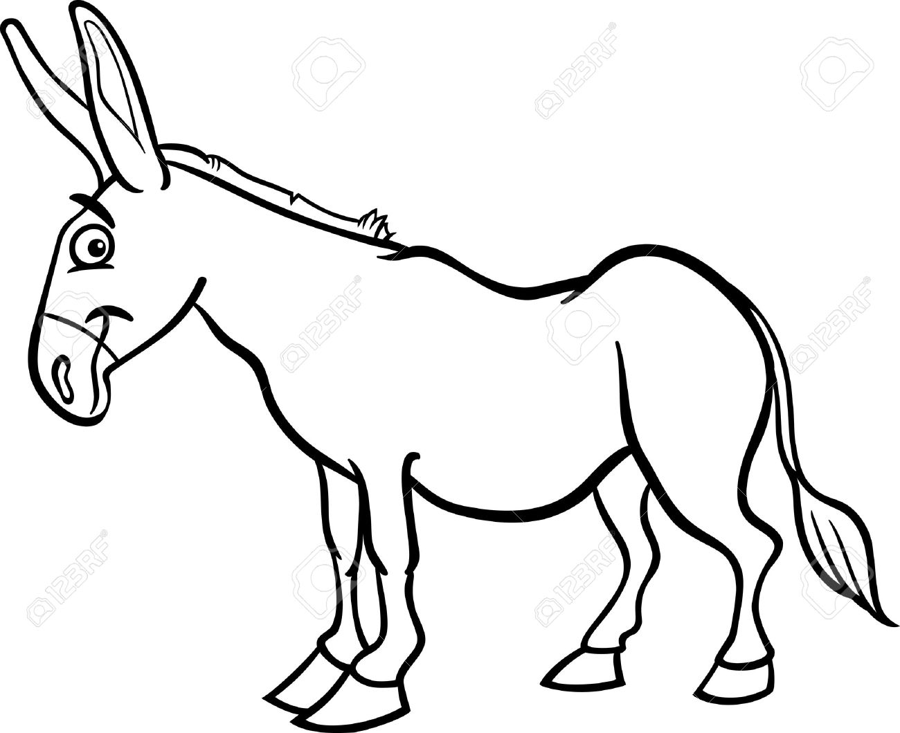 1300x1059 Mule Animal Coloring Pages Desert Animals Coloring Pages Mule Deer