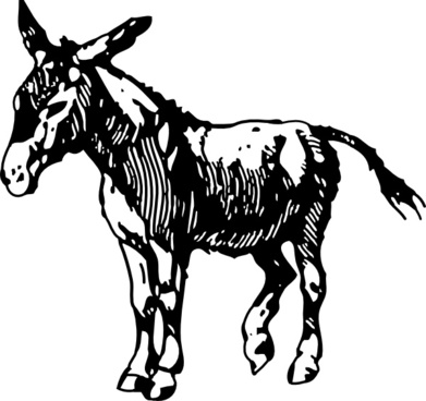 391x368 Mule Donkey Free Vector Download (52 Free Vector) For Commercial