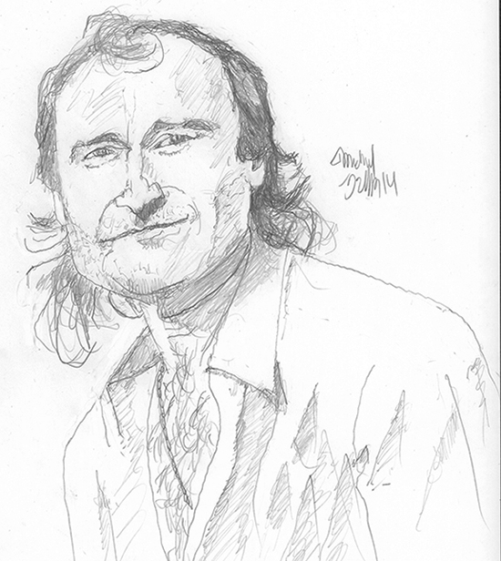 550x616 My Daily Phil 365 Phil Collins Drawings (Seriously)