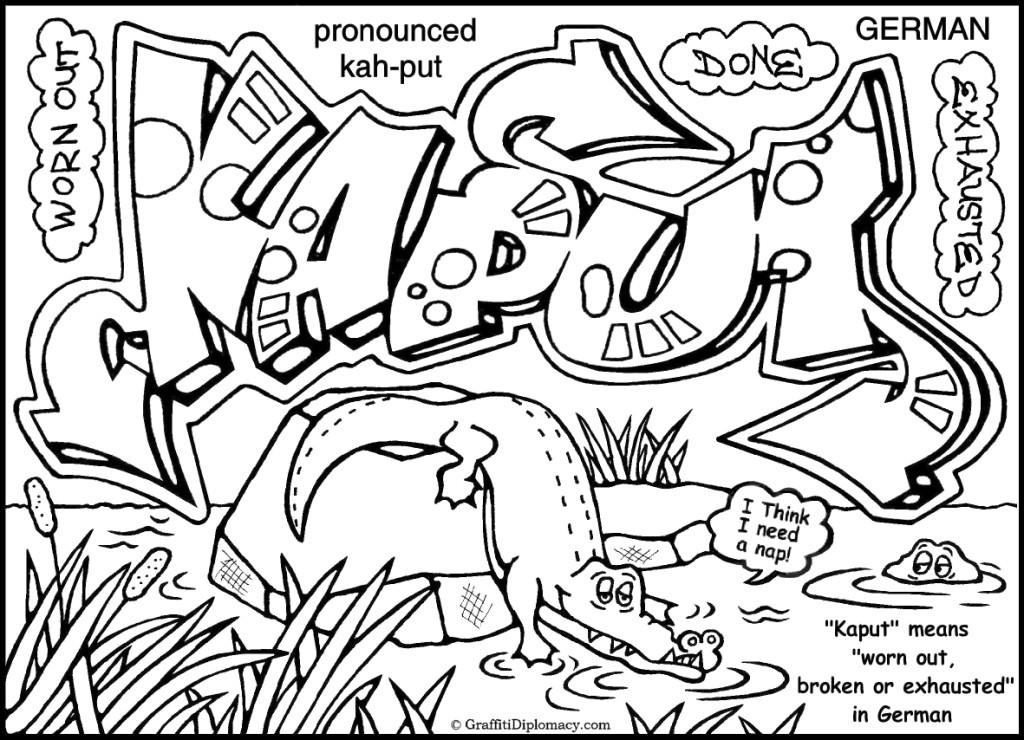 1024x740 Melting Potty Nyc Multicultural Graffiti Coloring Book Graffiti