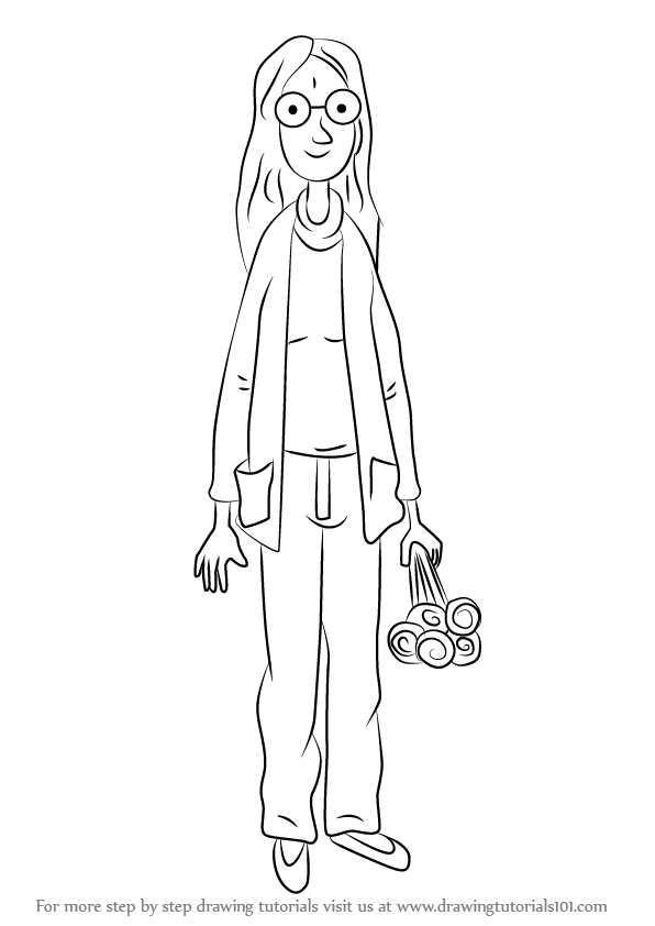 596x842 Learn How To Draw Mum From Horrid Henry (Horrid Henry) Step By