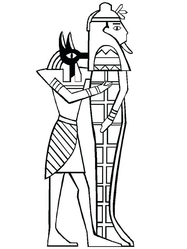 600x800 Egyptian Mummy Coloring Pages Mummy Tomb Pencil And In Color Media