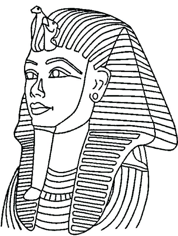 600x796 Ancient Coloring Pages King Tut Mask Mummy Free Page Gods