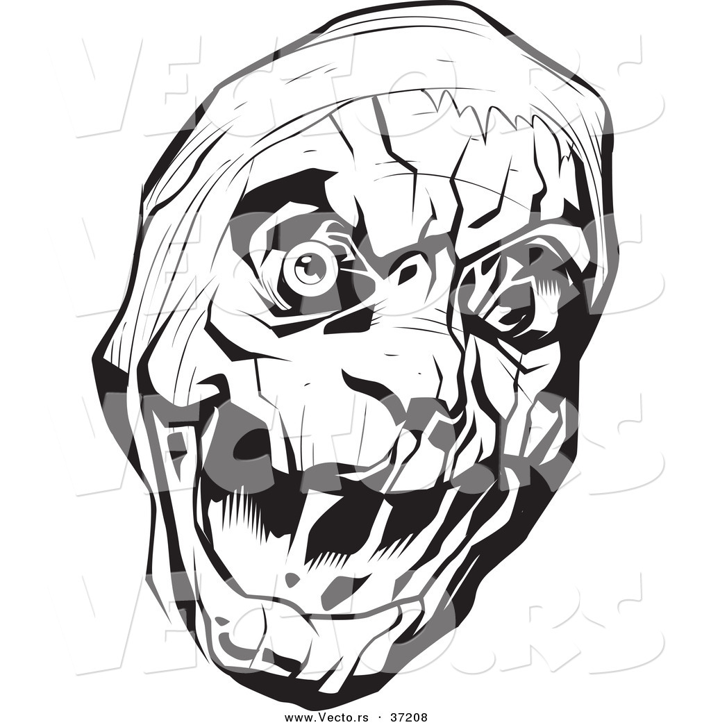 1024x1044 Vector Of A Scary Mummy Head