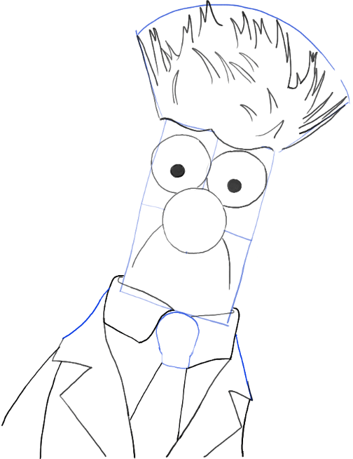 504x654 How To Draw Beaker From The Muppets Movie And Show In Easy Steps
