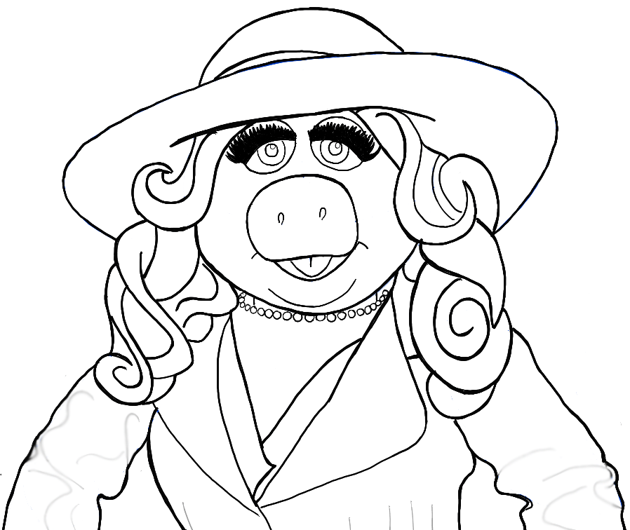 898x756 How To Draw Miss Piggy From The Muppets Show And Movie In Easy