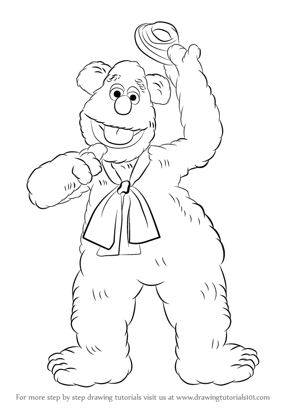 596x843 Learn How To Draw Fozzie Bear From The Muppet Show (The Muppet
