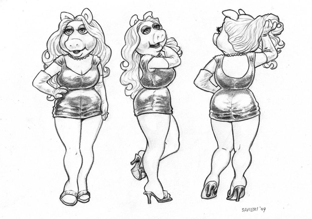 1024x720 Miss Piggy Drawings Toughpigs Art Introducing Peter Savieri