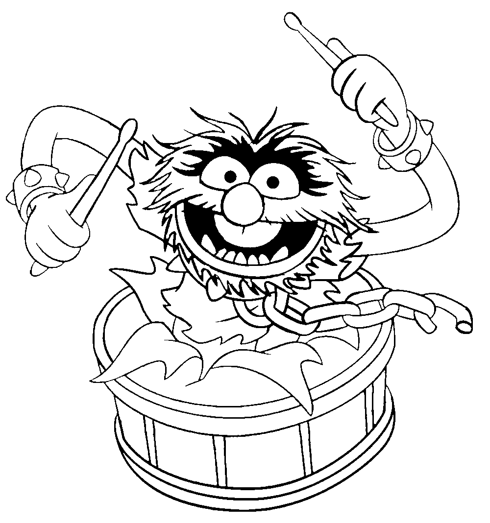 1000x1068 Muppet Show Drumming Muppet Show Coloring Pages