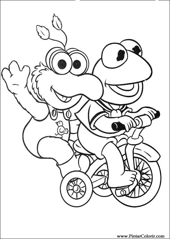 567x794 Drawings To Paint Amp Colour Muppet Babies