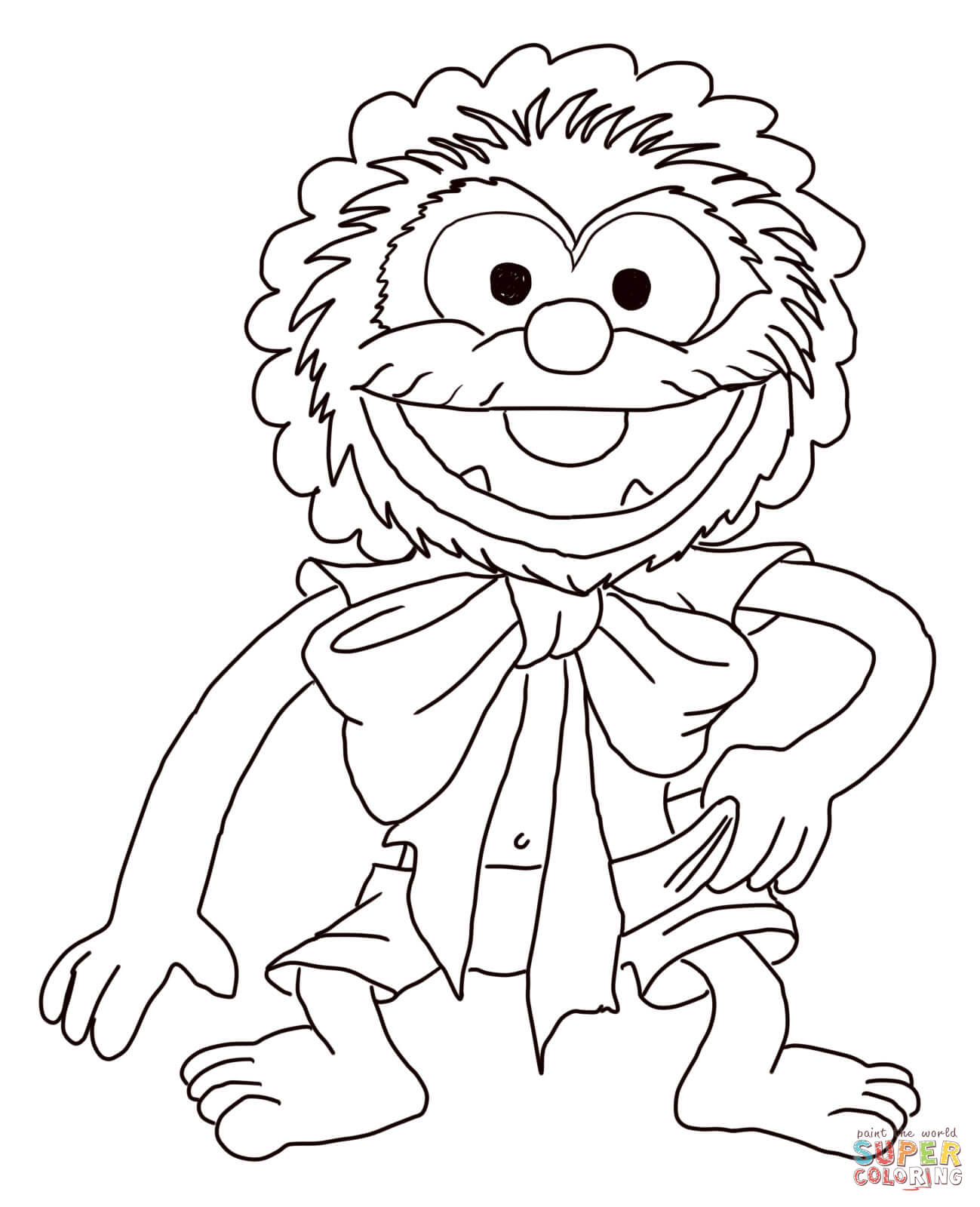 1299x1600 muppet babies baby animal coloring page free printable coloring