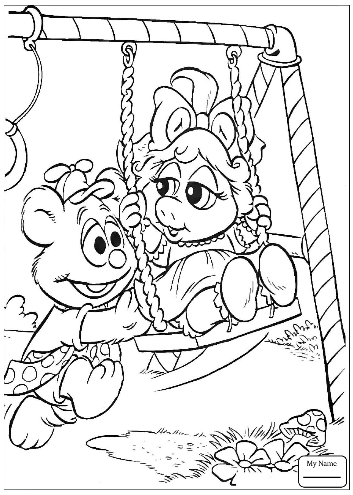 1156x1620 Coloring Pages For Kids Muppets Babies Animal On The Boat